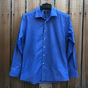 Dockers blue fitted button down long sleeve L 16